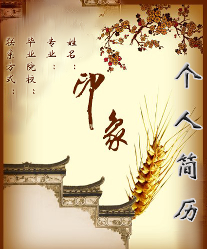 2016实习简历优秀封面图片下载